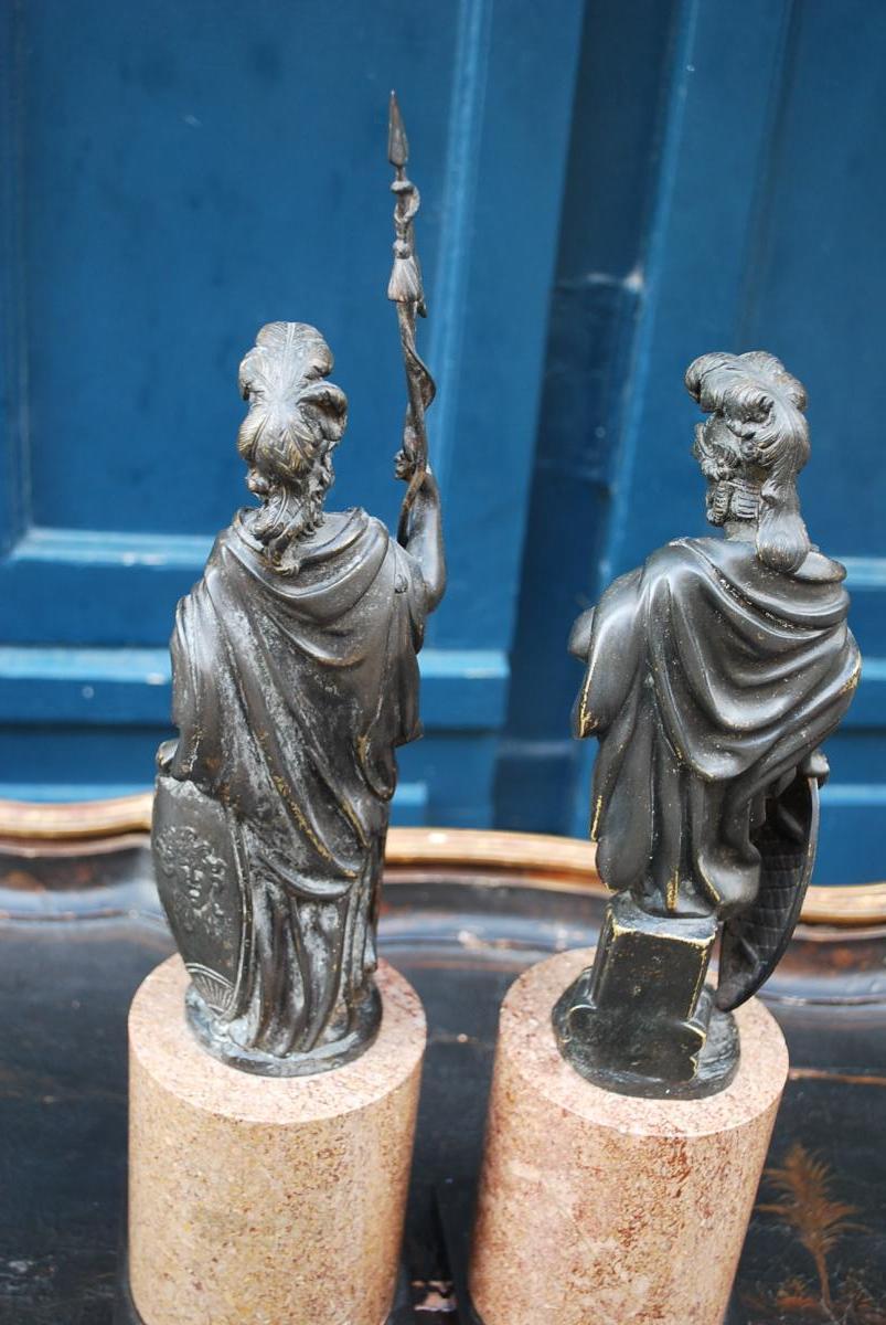 Paire De Statues En Bronze Représentant Mars Et Vénus ...