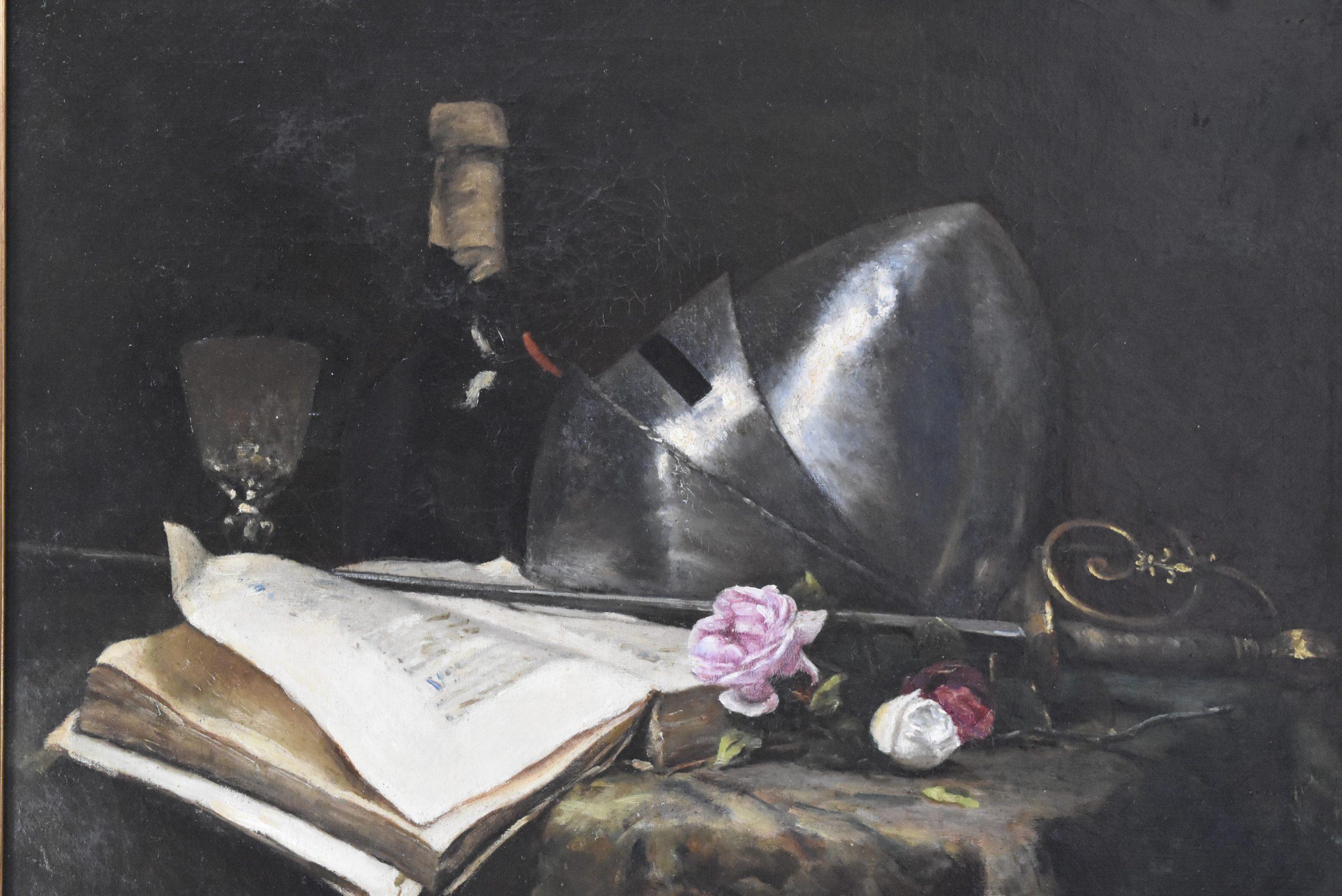 L'escrime - René François Sully Prudhomme Nature_morte_Rose_et_armure_3_org-scaled