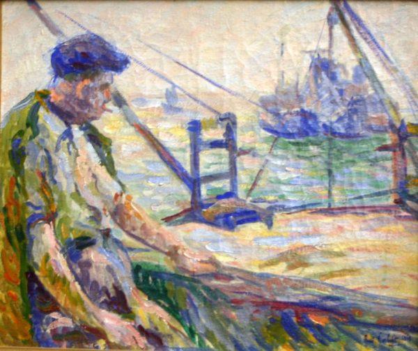 Le pêcheur au travail