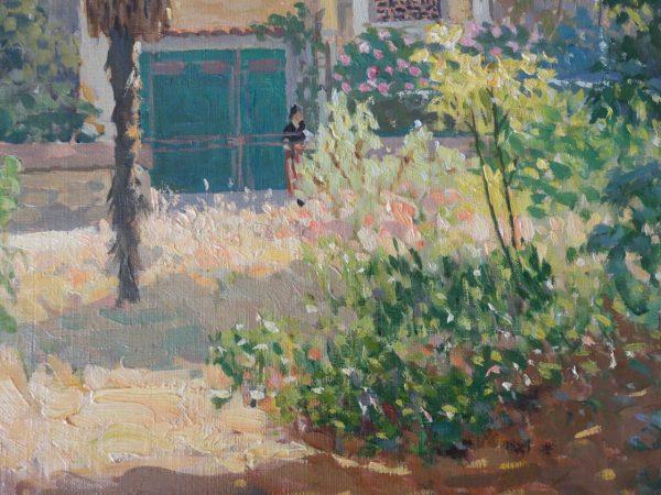 Jardin en été