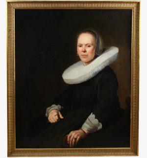 Portrait De Femme Baroque Huile Sur Toile école Néerlandaise